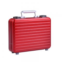 Luxury light weight aluminum magnesium alloy attache case business suitcase