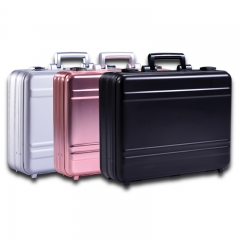 aluminum metal alloy briefcase silver pure laptop case