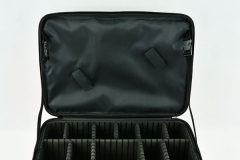 Large size Oxford makeup case durable cosmetic case for jewerly and toiltry EVA divider