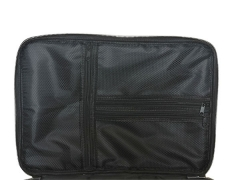 Buying PU cosmetic case with 3 layers large storage space makeup train bag black