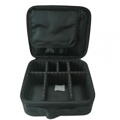 Black Pro makeup cases for travel carrying beauty cosmetics and tools