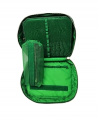 Green women daily PU cosmetic bag hand-held toiletry case for tool toiletries