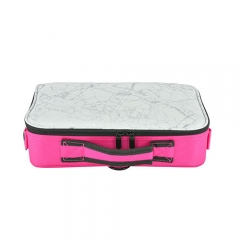 PU and oxford cosmetic case rose Oxford makeup toiletry case size 370*260*100mm marble pattern