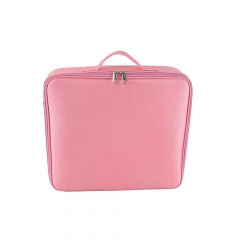 Pink beauty makeup train case storage toiletry bag travel organizer cosmetics
